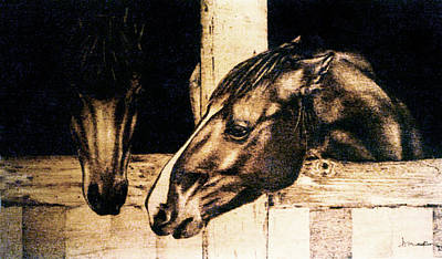 Pyrography - Barn Chat - Study by Dino Muradian