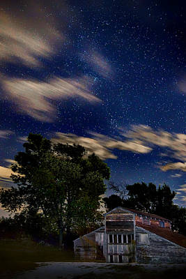 Photograph - Barn - Clouds - Stars by Nikolyn McDonald