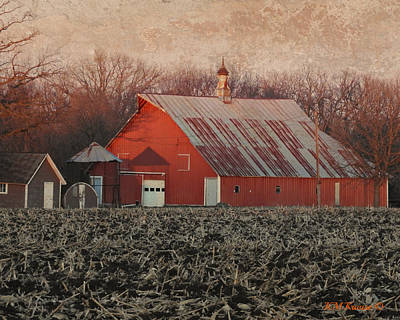 Photograph - Barn Crib And Sheds by Kathy M Krause