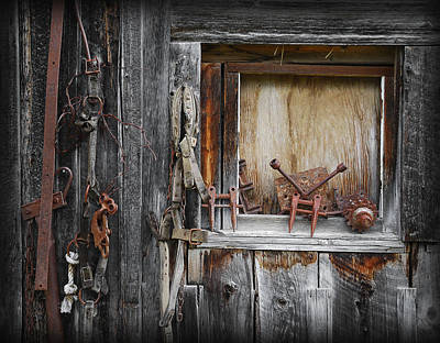 Photograph - Barn Decor by Wayne Sherriff