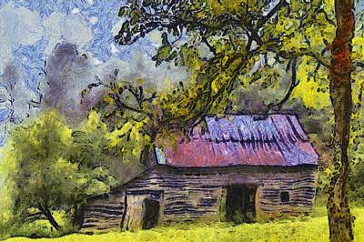 Shed Digital Art - Barn  by Dennis Wickerink