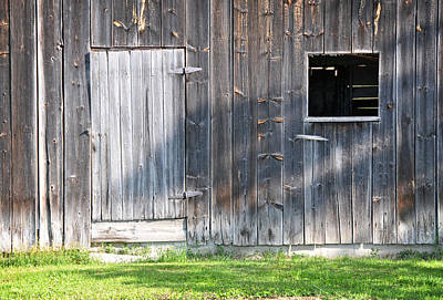 Photograph - Barn Door And Window by Mike Martin