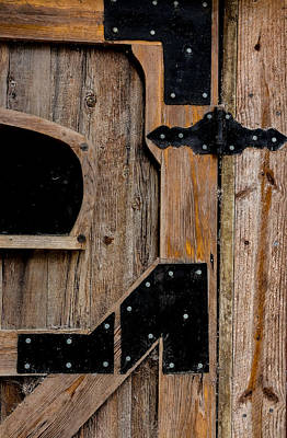 Photograph - Barn Door Close-up 2 by Richard Goldman