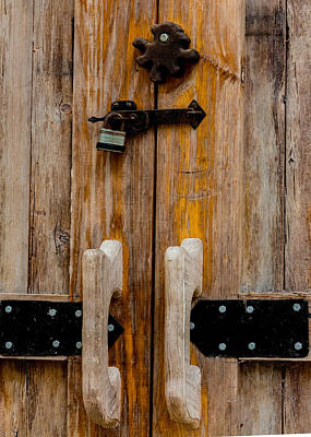 Photograph - Barn Door Close-up by Richard Goldman