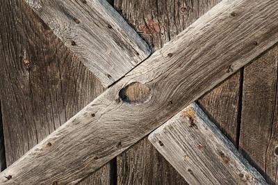 Photograph - Barn Door Detail by Steven Dunn