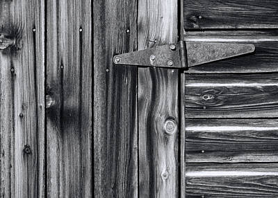 Photograph - Barn Door Detail by Wayne Sherriff