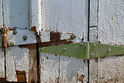 Photograph - Barn Door Hinges 3 by Mary Bedy