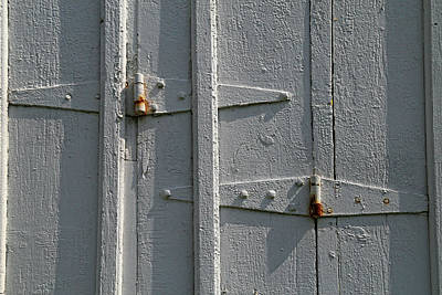 Photograph - Barn Door Hinges by Mary Bedy