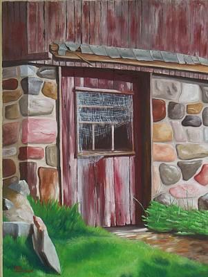 Barn Door In Memphis Art Print by Barbara Auito