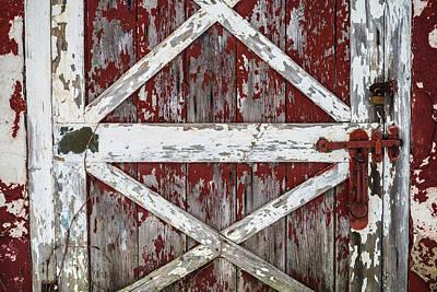 Red Barns Photograph - Barn Door by Kristopher Schoenleber