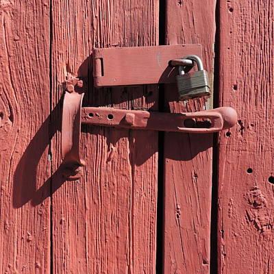 Photograph - Barn Door Locked by Bill Tomsa
