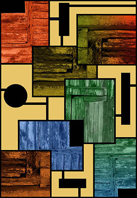 Photograph - Barn Door Mondrian by John Farley