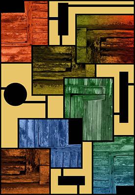 Photograph - Barn Door Mondrian by John Farley