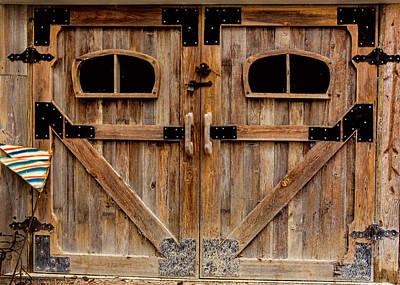 Photograph - Barn Door Texture by Richard Goldman
