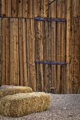 Old Fashioned Digital Art - Barn Doors And Hay by Susan Candelario