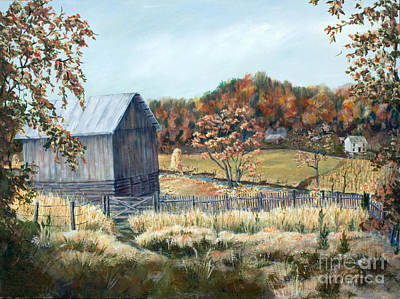 Tn Barn Painting - Barn From Long Ago by Janet Felts