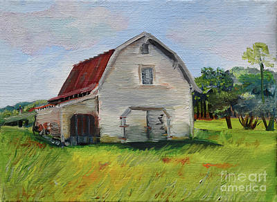 Painting - Barn-harrison Park, Ellijay-pinson Barn by Jan Dappen
