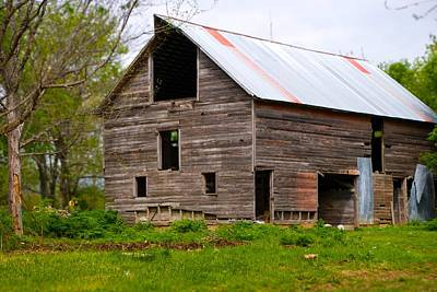 Photograph - Barn In 3d by Toni Berry