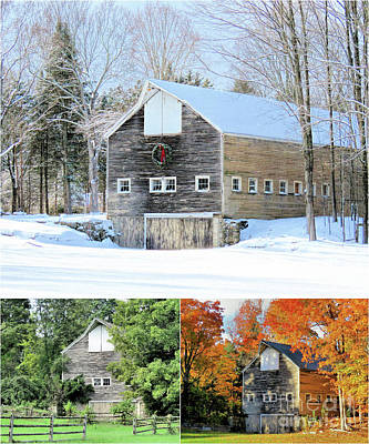 Photograph - Barn In All Seasons  by Janice Drew