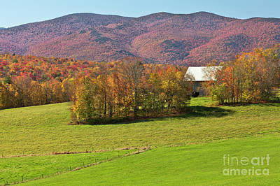 Photograph - Barn In Autumn Landscape by Alan L Graham