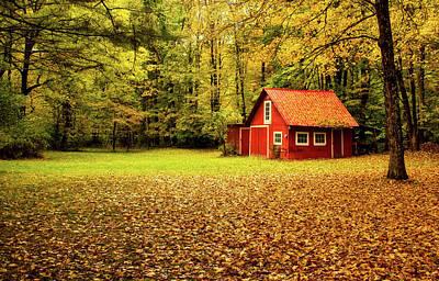 Photograph - Barn In Autumn by Pixabay