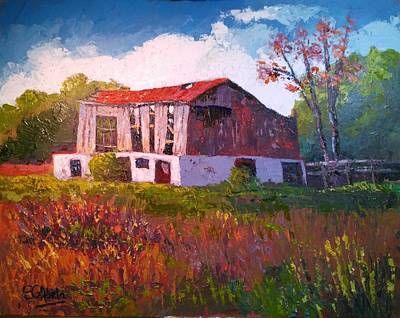 Wall Art - Painting - Barn In Bethesda by Edward Abela