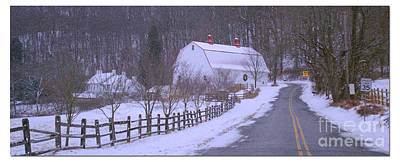 Photograph - Barn In Blizzard by Rima Biswas