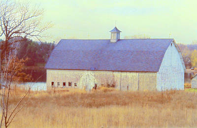 Photograph - Barn In Blue by Susan Crossman Buscho