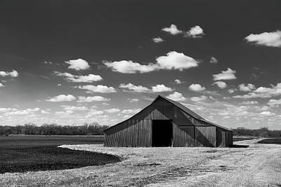Photograph - Barn In Clouds by Nathan Hillis