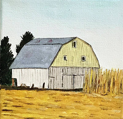 Painting - Barn In Corn by Kevin Callahan