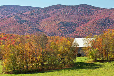 Photograph - Barn In Fall Landscape by Alan L Graham
