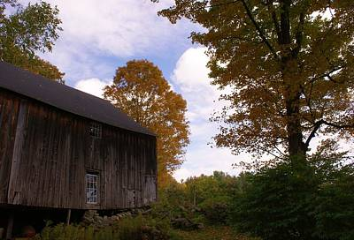 Photograph - Barn In Fall by Lois Lepisto