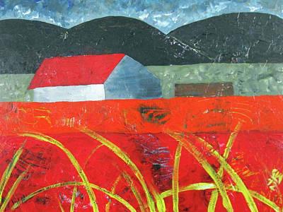 Painting - Barn In Field by Cynthia Matthews