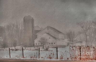 Photograph - Barn In Fog by David Bearden