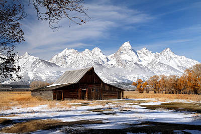 Photograph - Barn In Grand Teton National Park by Pierre Leclerc Photography