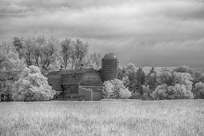 Photograph - Barn In Infrared by Guy Whiteley