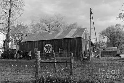 Comic Character Paintings - Barn in Mo no 2 by Dwight Cook