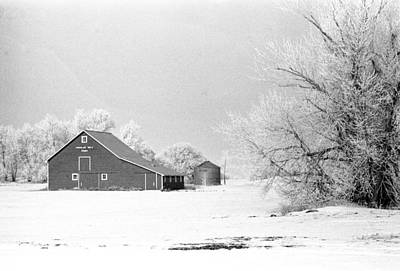 Photograph - Barn In North Dakoya Winter by William Kimble