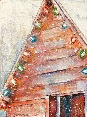 Barn In Snow Art Print