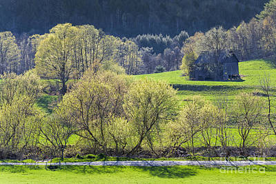 Photograph - Barn In Spring Landscape by Alan L Graham