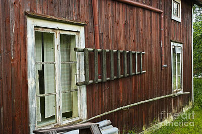 Barn In Sweden Art Print by Micah May
