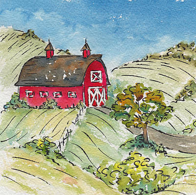 Farm And Barns Painting - Barn In The Country by Pat Katz