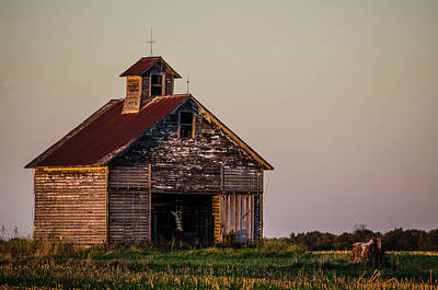 Photograph - Barn In The Gloaming Utica Illinois by Deborah Smolinske