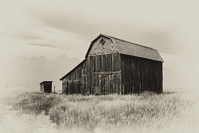 Wyoming Photograph - Barn In The Grand Tetons by Hugh Smith
