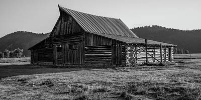 Photograph - Barn In The Grand Tetons by John McGraw
