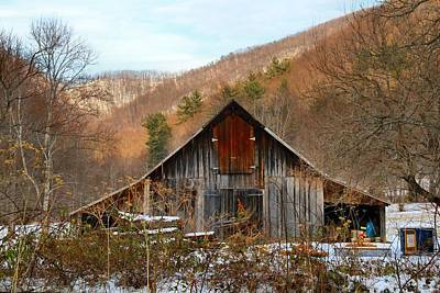 Photograph - Barn In The Kibler Valley by Kathryn Meyer