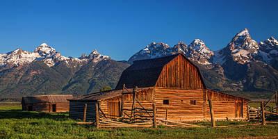Teton Wall Art - Photograph - Barn In The Tetons by Andrew Soundarajan