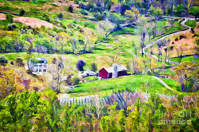 Photograph - Barn In The Valley by Kerri Farley