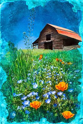 Wildflowers In Texas Photograph - Barn In The Wildflowers by Debra and Dave Vanderlaan