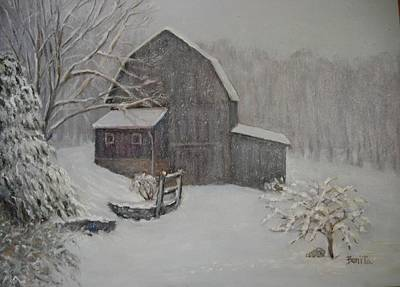Barn In Up State New York Art Print